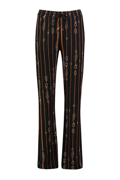 Relaxed-fit jersey trackpants met kettingprint